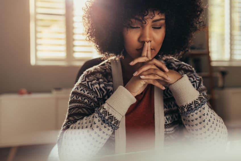 woman thinking about how to address her job change